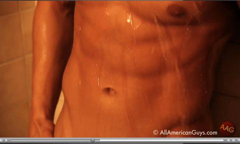 Male model abs