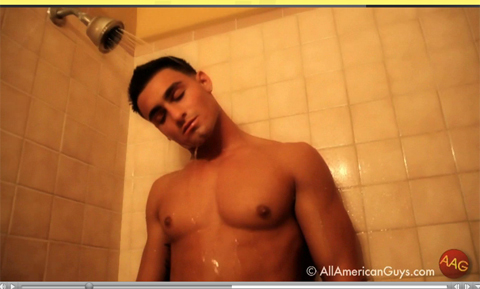 Male model in the shower